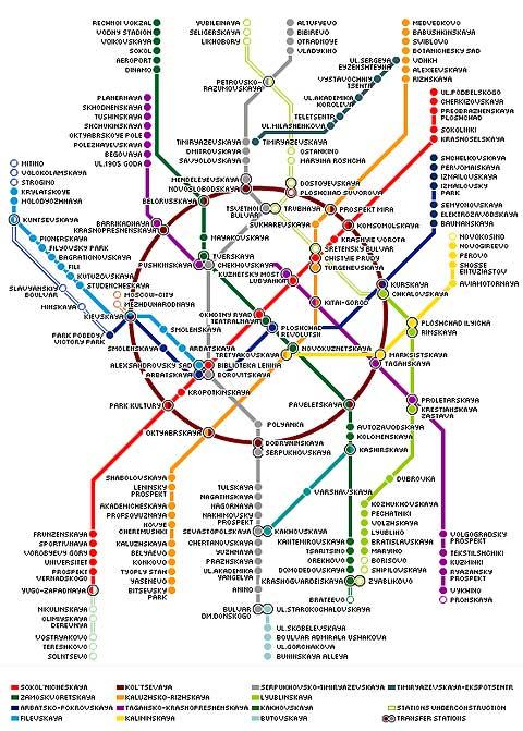نقشه ایستگاه مترو مسکو